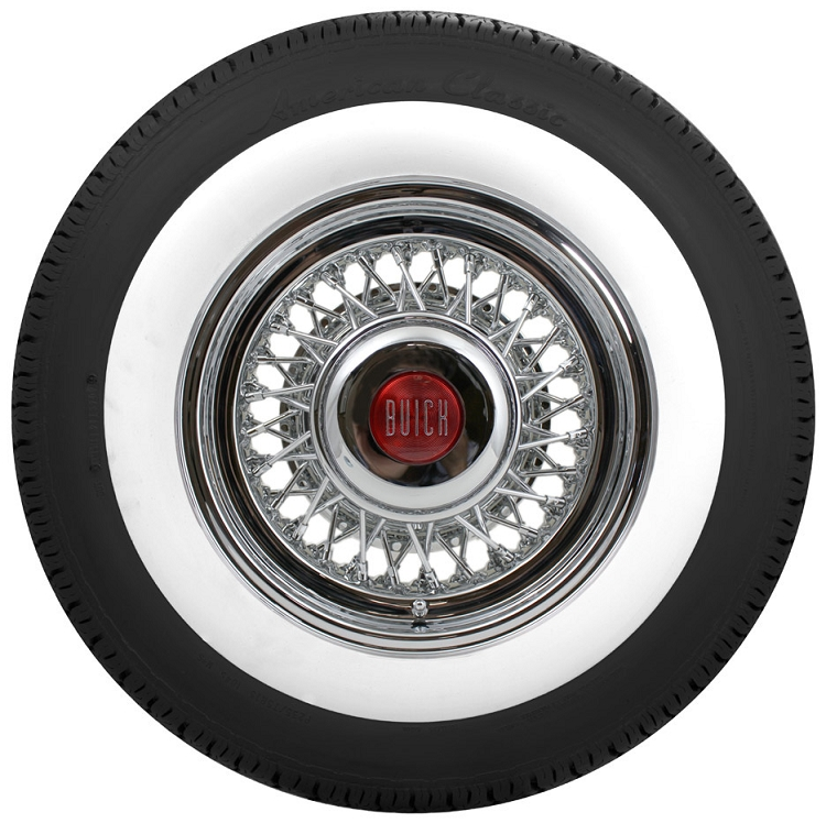 buick wire wheel and whitewall tire package roadster brand stainless steel spokes and chrome nipples