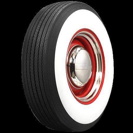 """Coker Bias-Ply Tires - L78-15 - 4"""" Whitewall"""