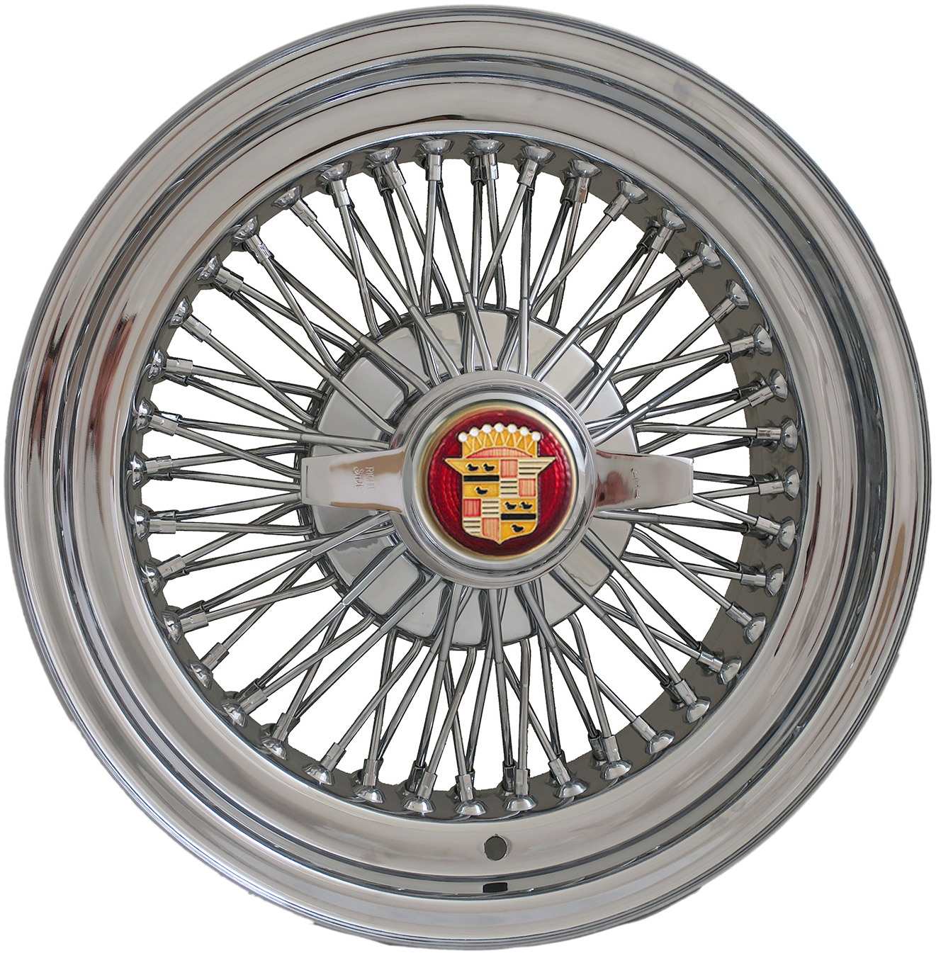 """Cadillac DeVille 72 Knock-Off Wire Wheels 15 X 7"""" With"""