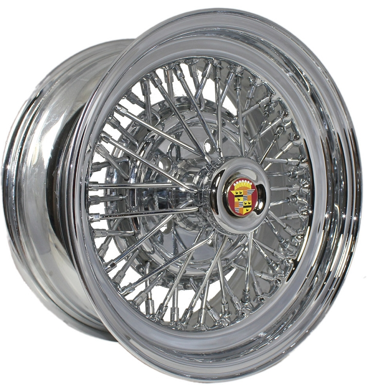 Brougham-50 Cadillac Wire Wheel And Vogue Tire Package