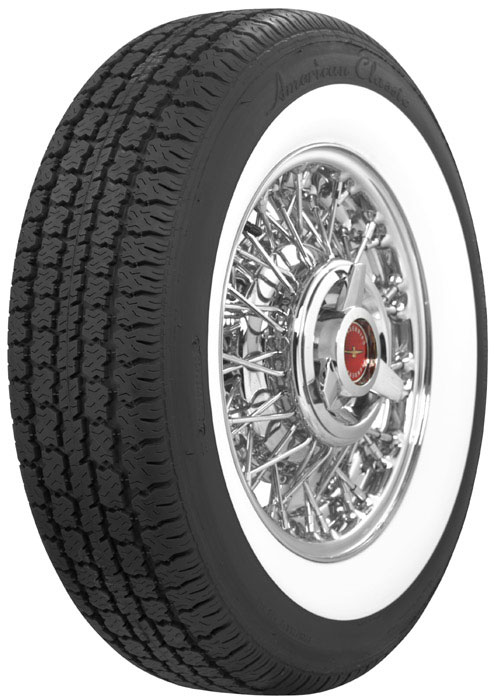 P205 75R15 Tires >> Thunderbird Wire Wheel and Whitewall Tire Package ...