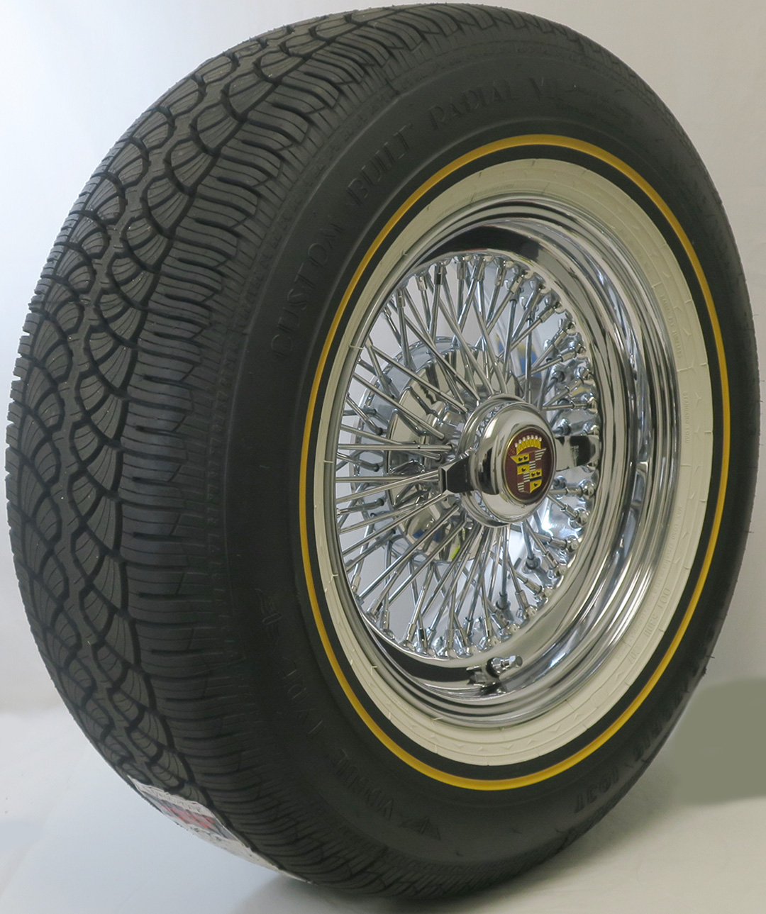 """P235 70R15 Tires >> Cadillac DeVille 72 Knock-Off Wire Wheels 15 X 7"""" With ..."""