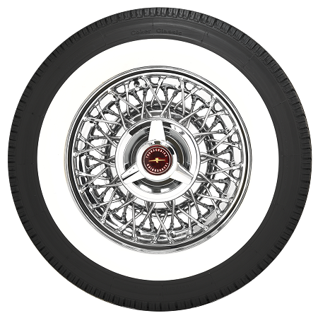 "P205 75R15 Tires >> Coker Classic Radial P205/75R15 - 2 3/8"" Whitewall"
