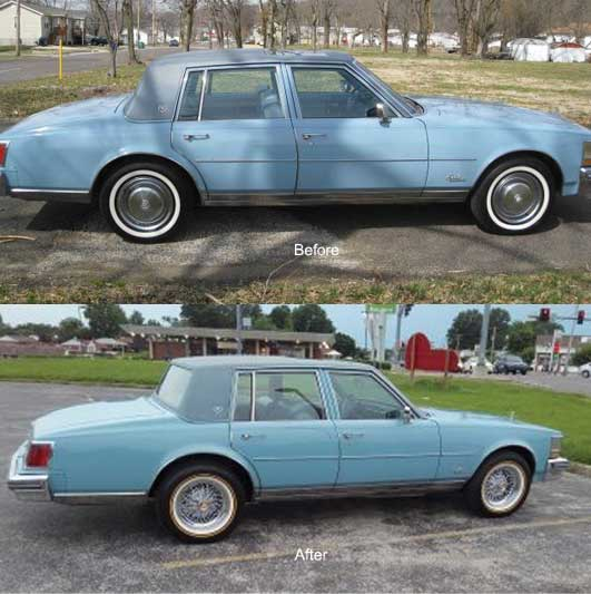 P235 70R15 Tires >> Brougham-50 Cadillac Wire Wheel And Vogue Tire Package ...
