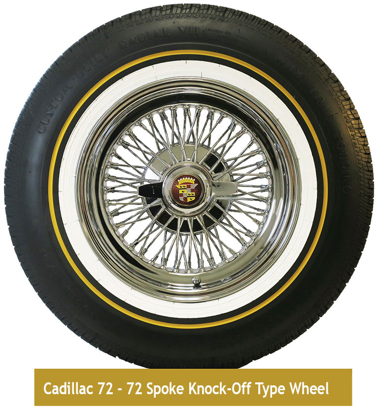 Cadillac 72 Knock-Off Wire Wheels 15 X 7