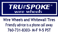 Truespoke® Wire Wheels and White Wall Tires