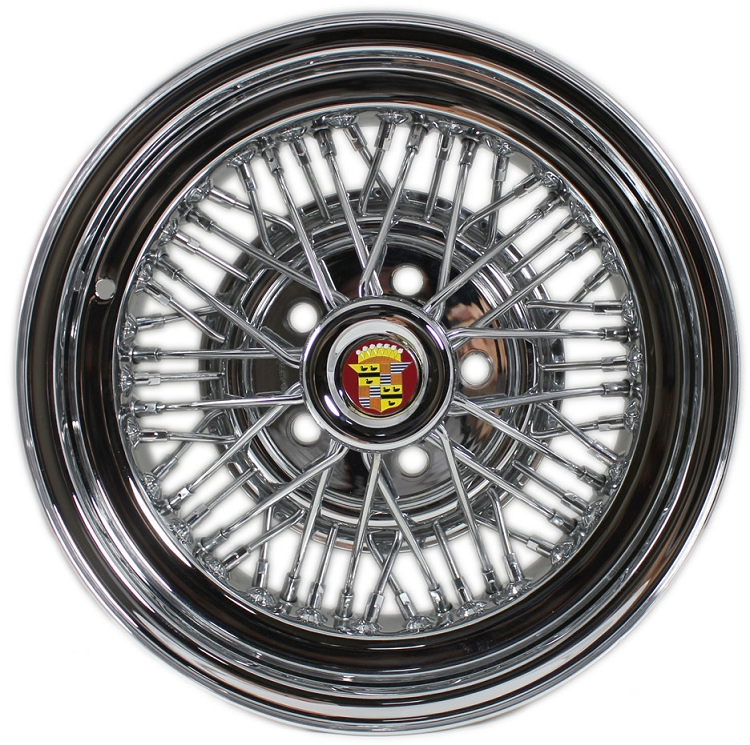 6 Wire Wheel | Cadillac Brougham 50 Spoke Wire Wheels Truespoke Chrome Wire Wheels
