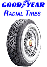 Goodyear Steel Belted Radial White Wall Tires