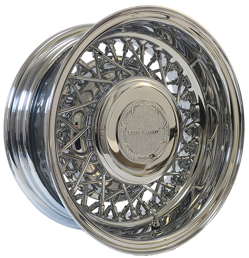 Trueclassic-56 Spoke Cross Lace Chrome Wire Wheels