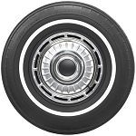 Firestone 700-13 white wall tire with a 5/8