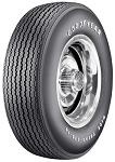 Goodyear F70/14 Raised White Letter - E/S: Tire size is elevated in raised white letters and numbers