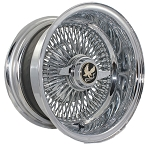 Truewire® 100 Spoke Knock-Off Wire Wheels. Size: 14 X 7