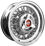 Chevrolet-Oldsmobile-Pontiac - All-Chrome Truespoke Wire Wheels