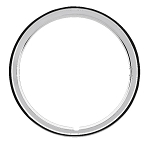 Smooth Finish Stainless Steel Trim Ring for OEM Wheels