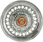 Truespoke All-Chrome 48-Spoke Cadillac Wire Wheel