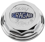 The Cragar® Star Wire® Cap is chrome plated aluminum. They are sold individually.