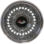 Trueray Cross Lace 56 Spoke Wire Wheel is shown with the optional 1959-60 Spinner Cap