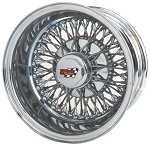 72 Spoke Dayton Wire Wheel. Cross-Lace Style is shown. Reverse (deep dish style). HEX style knock off with Dayton Emblem