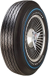 Goodyear 775/15 Speedway Blue Streak with Raised White Letters. Shown with a finned allow wheel and spinner, knock-off