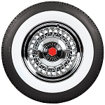 Packard 1938-1956 Stainless Steel Wire Wheel and Whitewall Tire Package