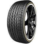 Vogue Custom Built Radial VIII White and Gold Tire P245/40R20