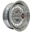50 Spoke, direct, bolt-on wire wheel. Cap has burgundy color background