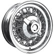 Chrysler Wire Wheel - Size: 15 X 6 inches with Chrysler hubcap