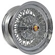 "Brougham-50 Cadillac Wire Wheel with round ""Donut"" Cadillac cap"