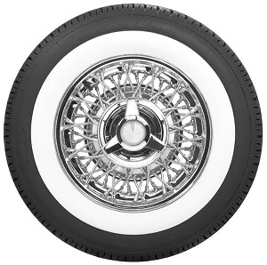 Ford 56-spoke lip-lace style with 3-bladed spinner cap