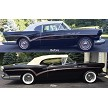 Mr. Ron DeVito's 1957 Buick, before and after adding our Buick wheel and tire package.