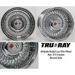 Trueray 15 X 6 inch REVERSE style wire wheel with DOME and HEX cap with cross-flag medallion.