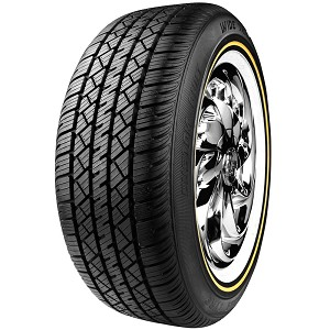 Vogue Wide Trac Touring Tire II White and Gold Sidewall P215/65R15