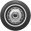 "Firestone 700-13 white wall tire with a 5/8"" white wall bias-ply tire"