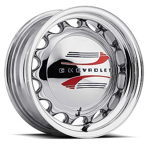 Chrome Plated Artillery Steel Wheels - Size 15 X 6 Inches