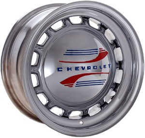 Chrome plated steel Artillery Wheel. Hubcap, lug nuts and shipping are not included.