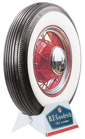 "BF Goodrich 600-16 - 3 1/2""  Whitewall - Bias-Ply"