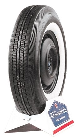 "BF Goodrich 725-13 - 2 1/4"" Whitewall - Bias Ply - S Speed Rated"