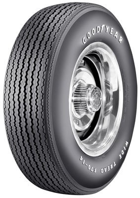 Goodyear F/70 Speedway Wide Tread Raised White Letters