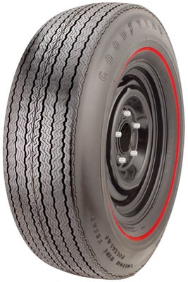 "Goodyear Polyglas F70/14 .350"" Red Stripe"