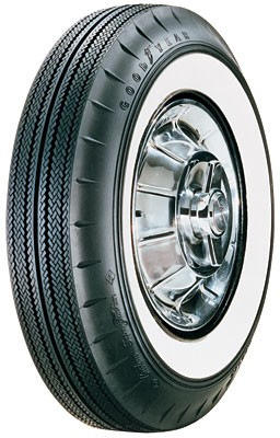 "Goodyear Custom Super Cushion 750/14 - 2 1/4"" Whitewall - 4 Ply Poly - Tubeless"