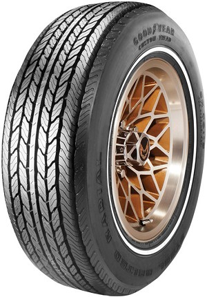 GR70/15 Goodyear Custom Tread - White Stripe