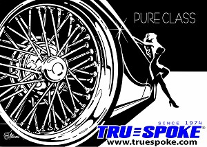 Truespoke Factory Banner measures 4 foot wide and 3 foot high